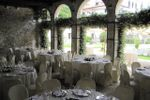 Barchessa con  gelsomini in fiore di Villa Gallici Deciani