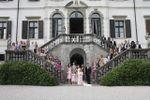 Foto di gruppo sulla scala di Villa Gallici Deciani