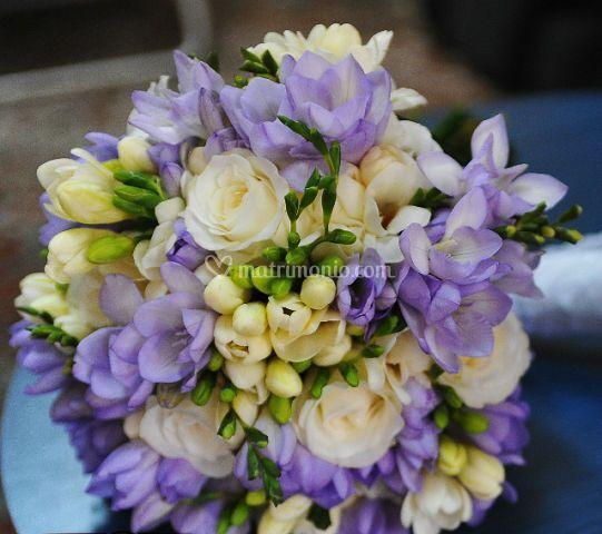 Bouquet sposa fresie