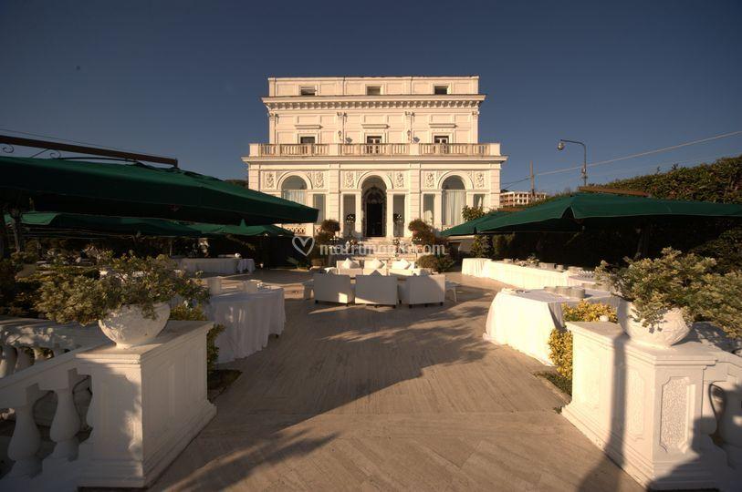 Il buffet di Villa Cilento