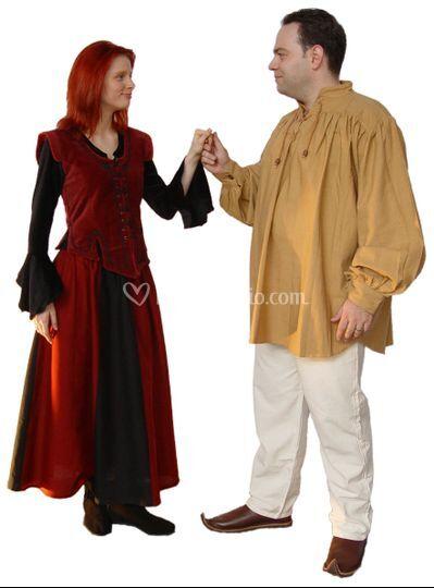 Abiti per matrimoni medievali