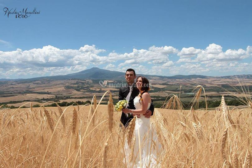 Sposi in Val d'Orcia