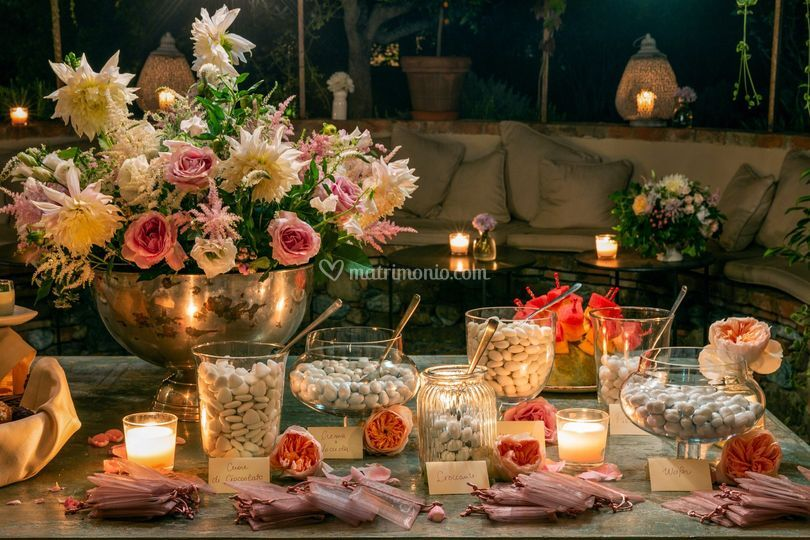 Sweet table and candies