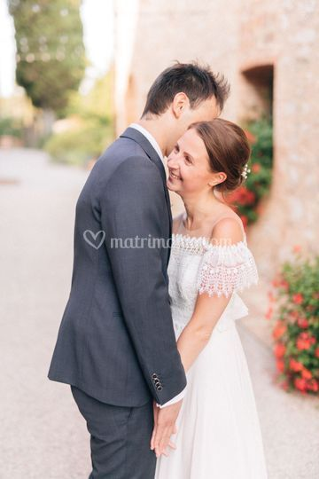 Lovely couple in Tuscany