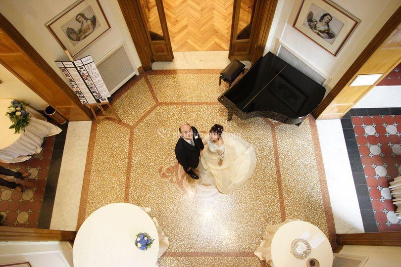 Sposa da balconata