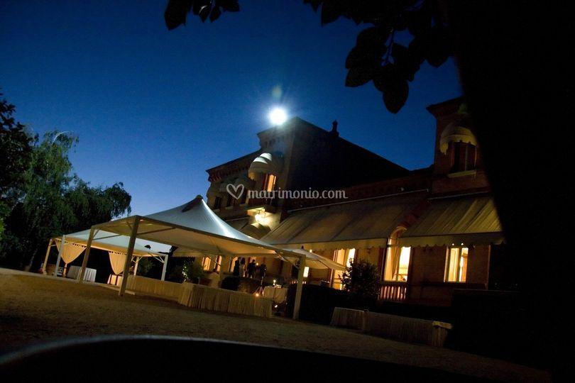 Esterno Villa sera