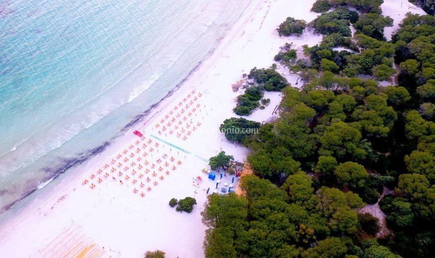 Vista aerea spiaggia