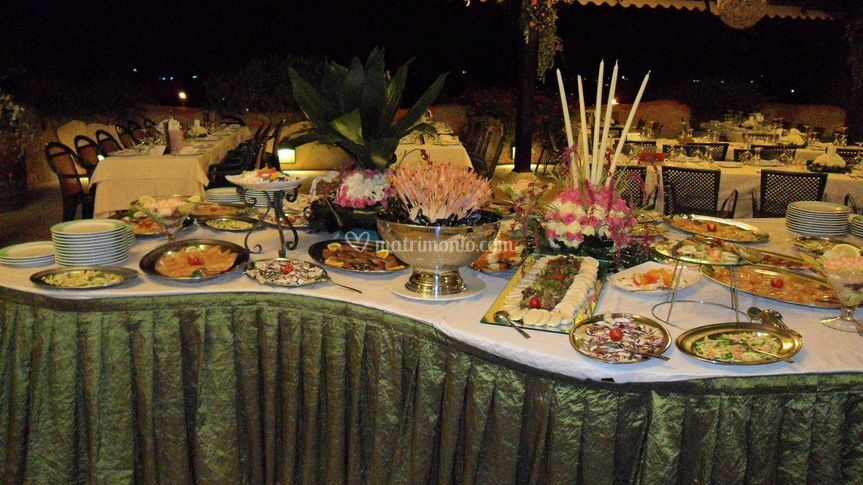 Buffet di antipasti in gazebo