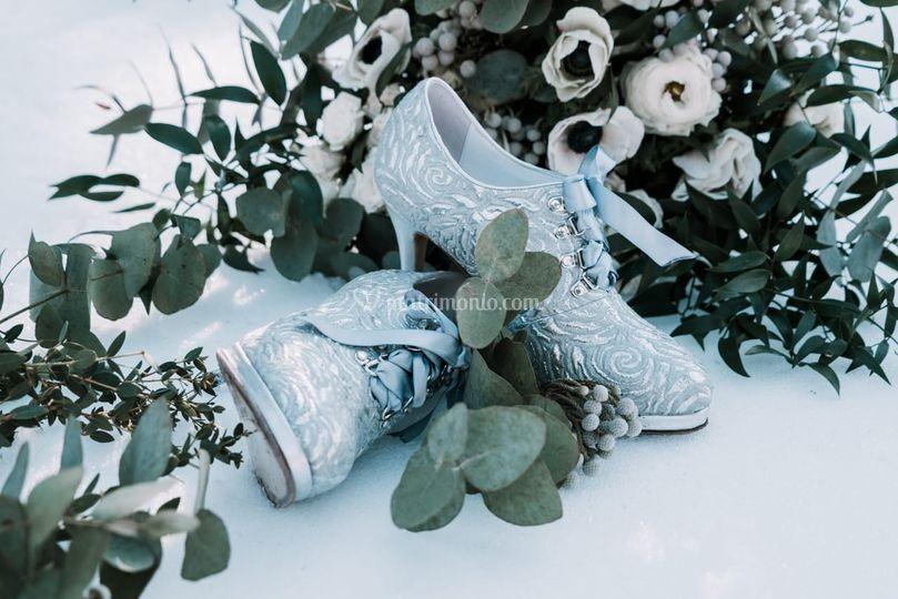 Scarpe sposa su misura persona