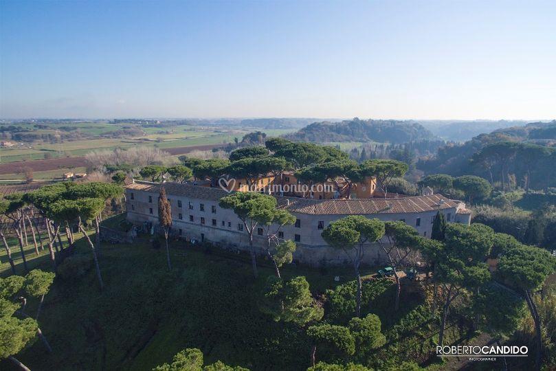 Veduta dall'alto del castello di Castello di Decima