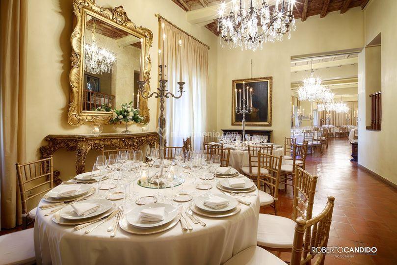 Sala sant'Andrea tavoli cena
