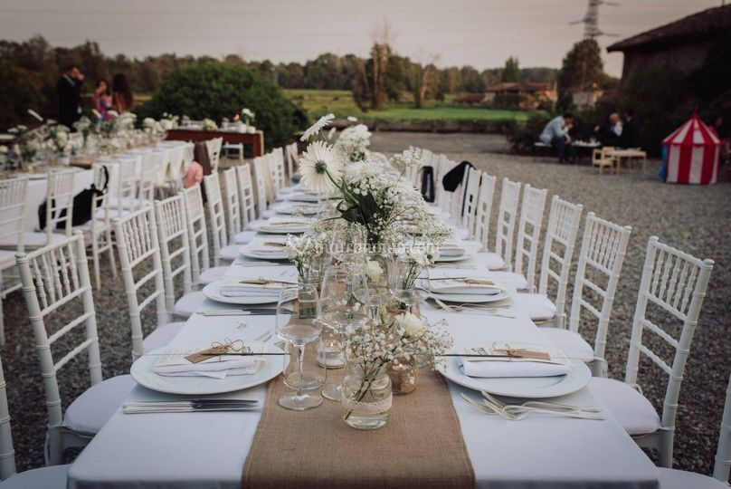 Matrimonio Country Chic Avellino : Apparecchiatura country chic di top parties foto