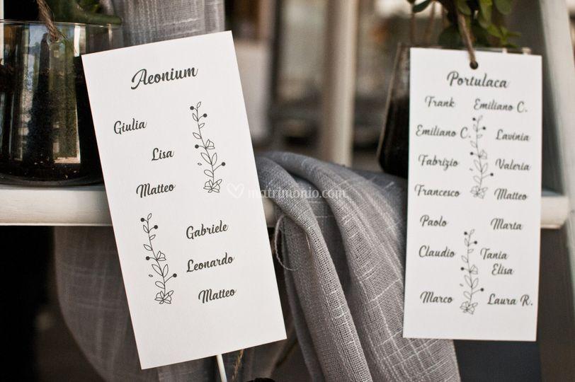 Tableau de mariage - dettaglio
