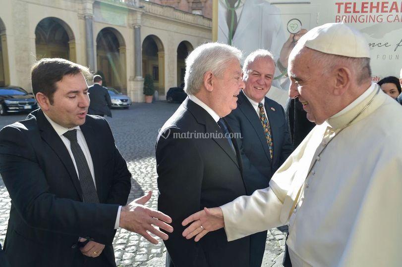Paloni con il Papa, VIP service