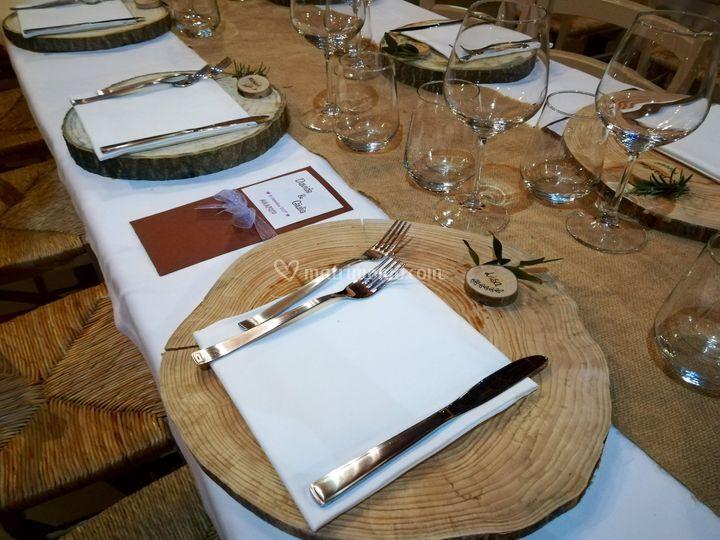 Particolari dei tavoli