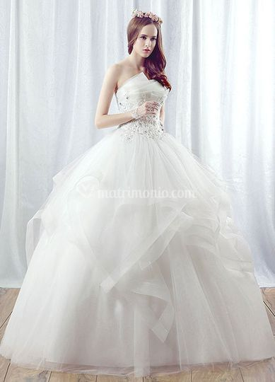 Gonna in organza e tulle
