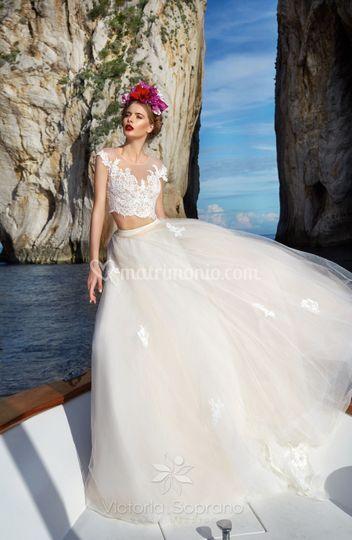 Abito da sposa cipria