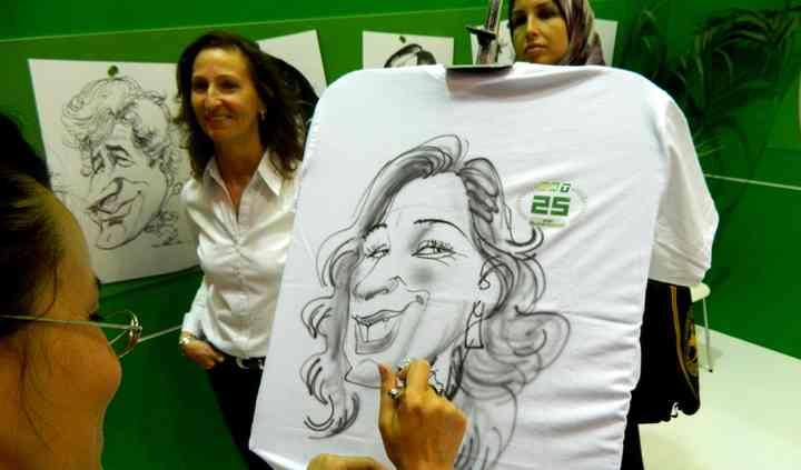 Caricatura su t.shirt