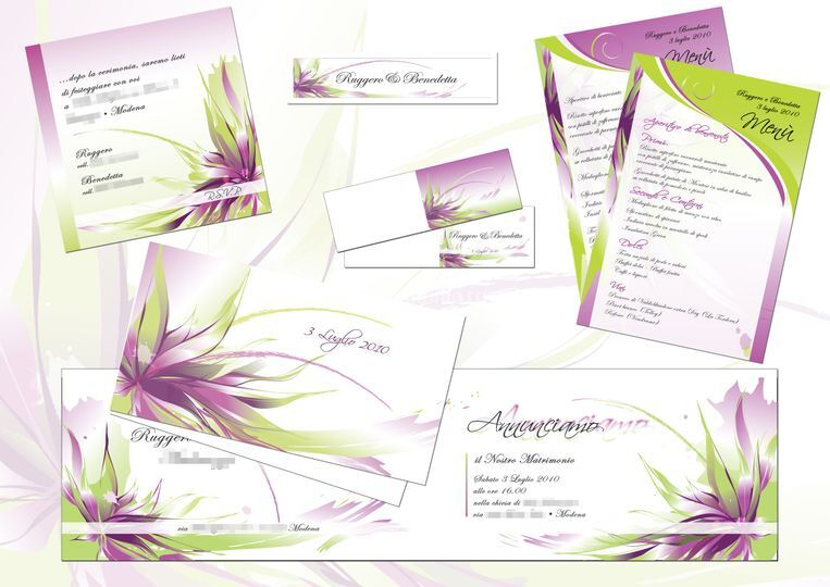 Set grafica matrimonio