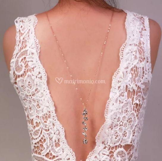 collana schiena sposa