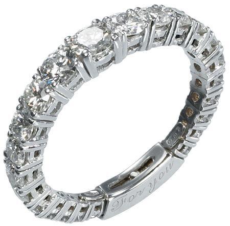 Anello - Molla con Diamanti