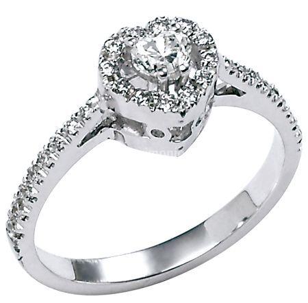 Anello - Diamante Cuore