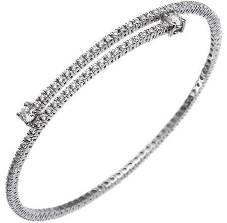 Bracciale - Molla con Diamanti