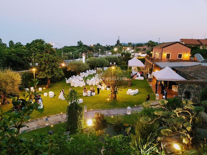 Vista panoramica della villa