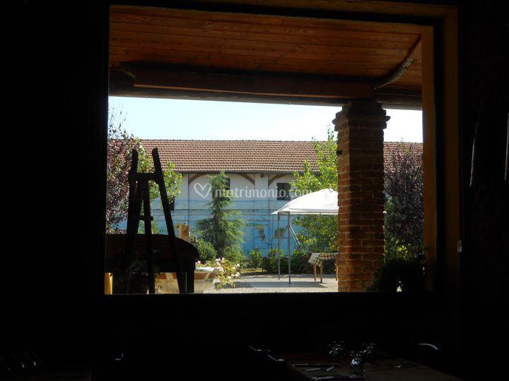 Vista dalla vetrata