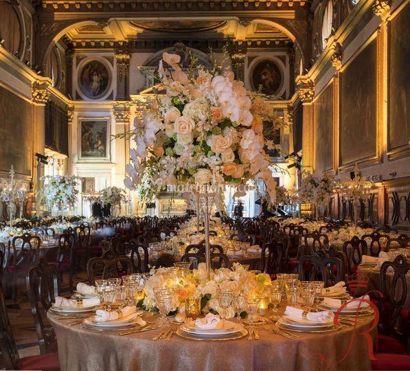Cena di gala per matrimonio
