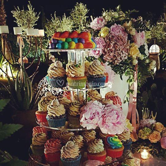 Alzata di cupcake e Tortina Ra