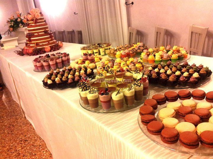 Macaron, mini cupcakes, etc
