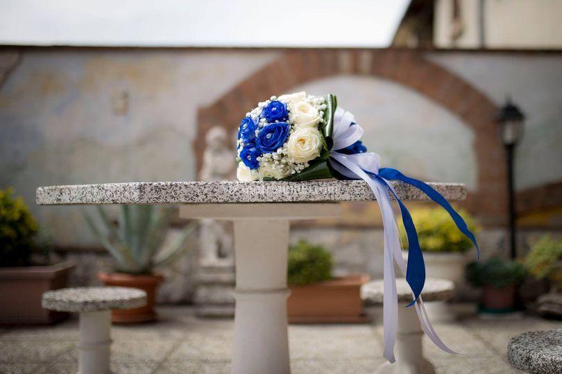 Mazzo sposa  in the blue