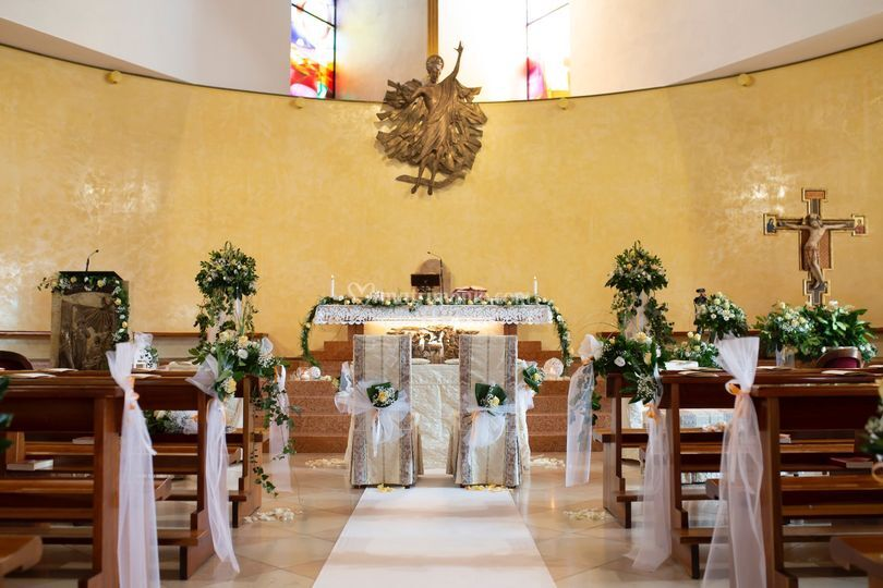 Allestimento chiesa Vago