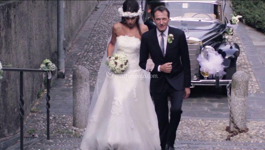 Matrimonio arrivo sposa