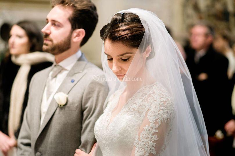 Una sposa elegante e raffinata