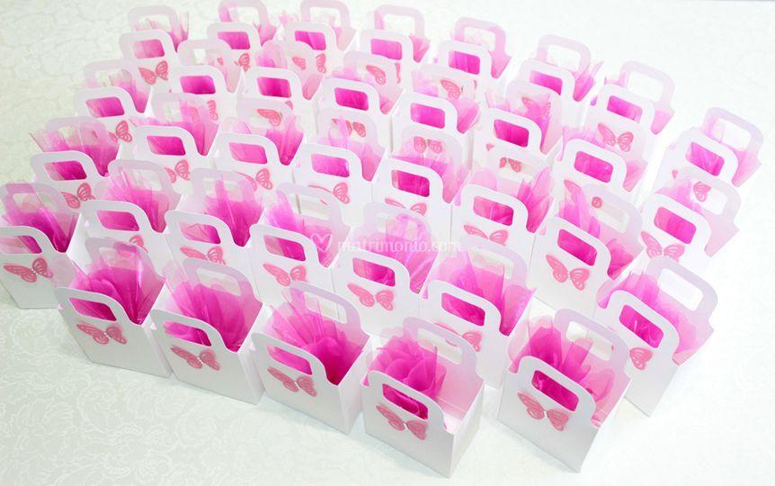Borsette con confetti