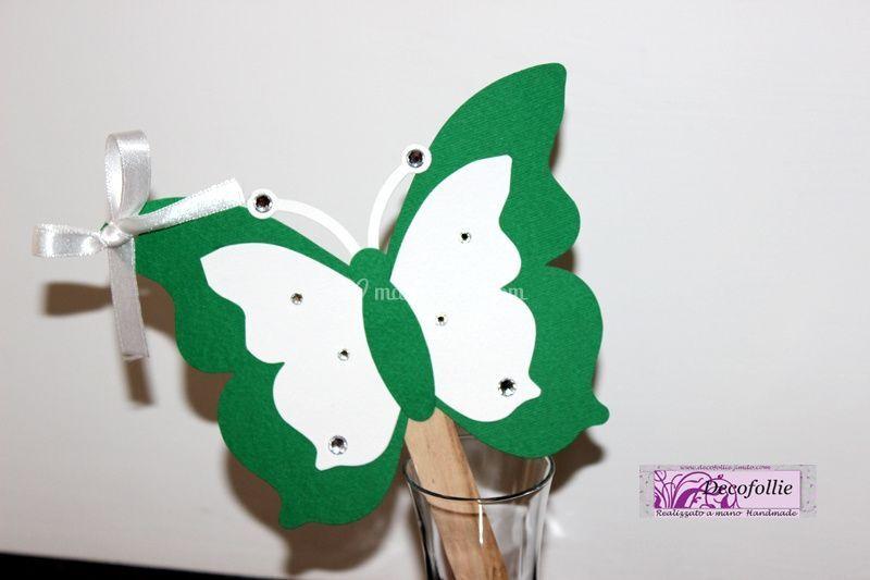 Ventaglietto farfalla bicolore
