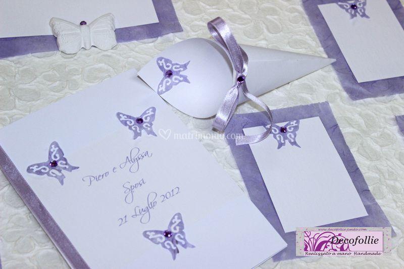 Set farfalle glicine