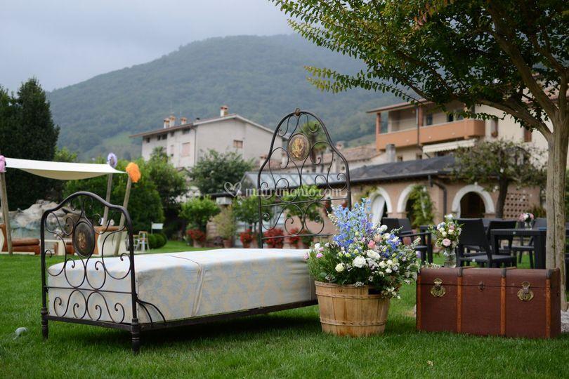 Allestimento vintage giardino