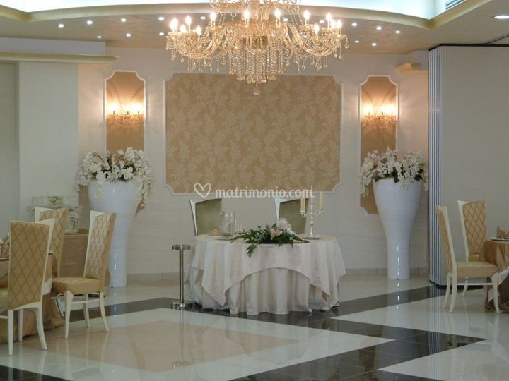 Tavolo sposi sala bizantina