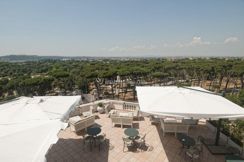 Villa Borghese dal Rooftop