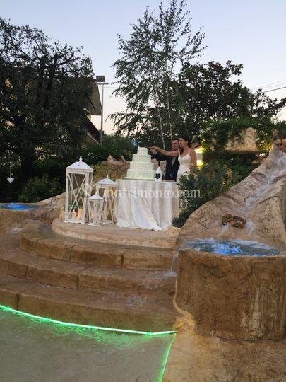 Tavolo Sposi con cascata