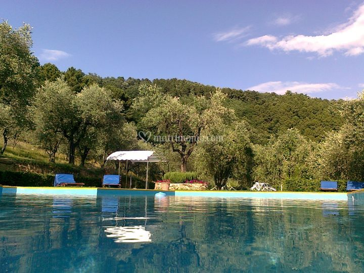 La piscina per le foto