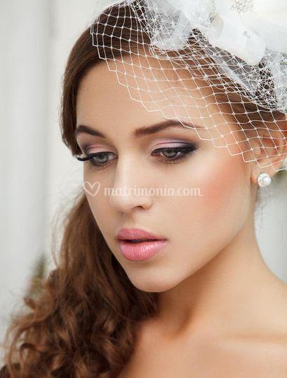 Pink shades wedding make up