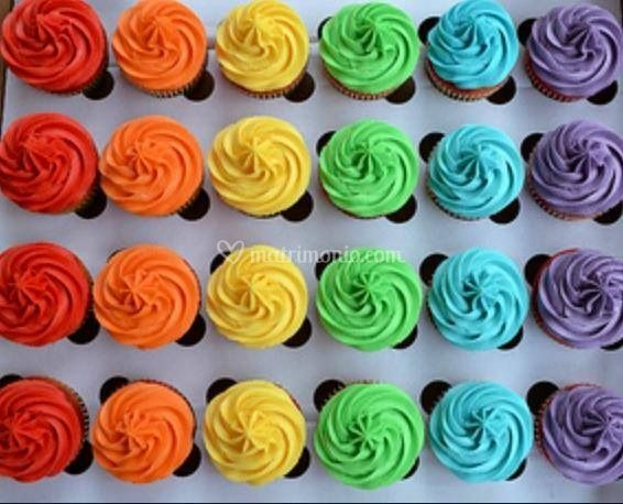 Cup cake arcobaleno