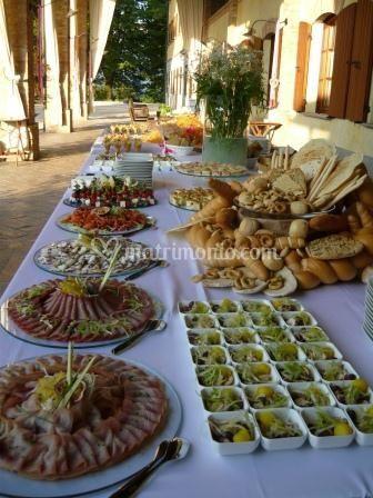 Il buffet di benvenuto