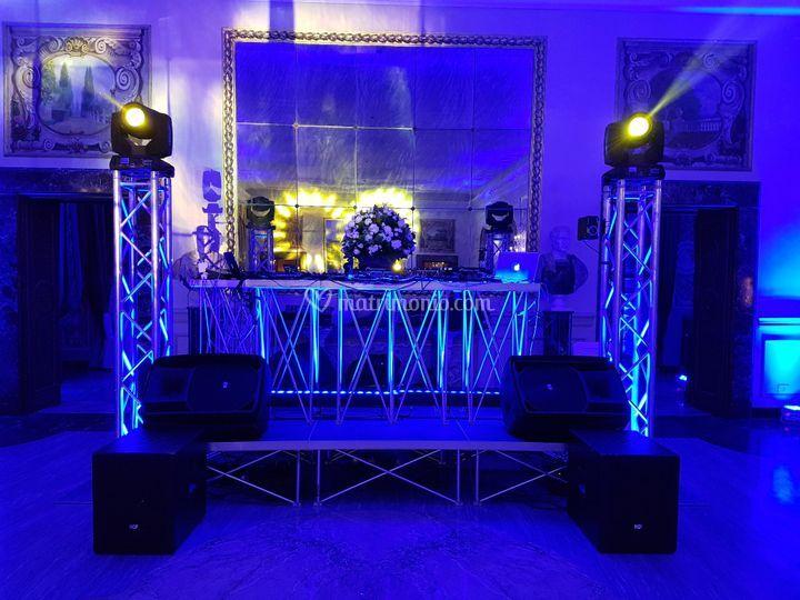 DJ Setup, Audio/Luci/Pedana