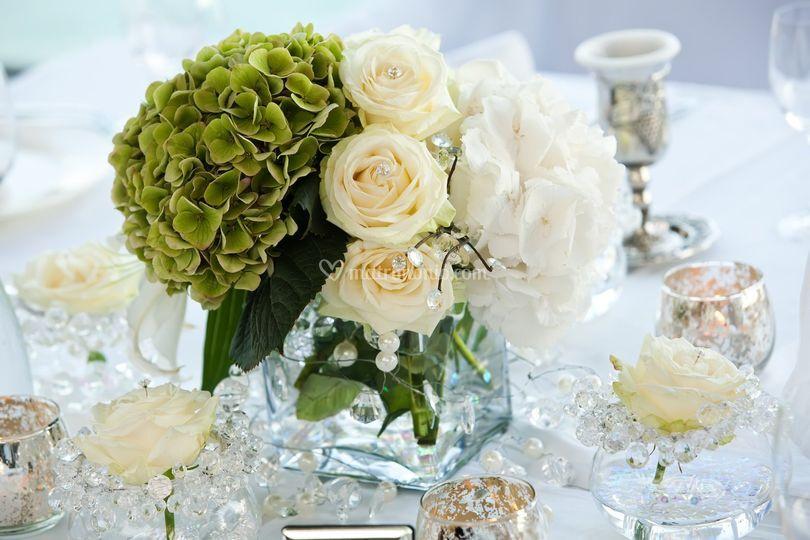Composizione tavolo - tema perle