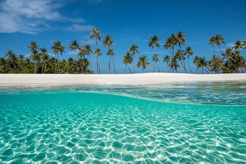 In pareo alle Maldive…